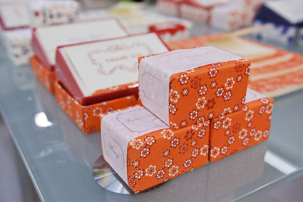 wrapped soaps with Rossi 1931 decorative papers