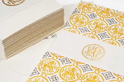 social stationery cards with deckled edge