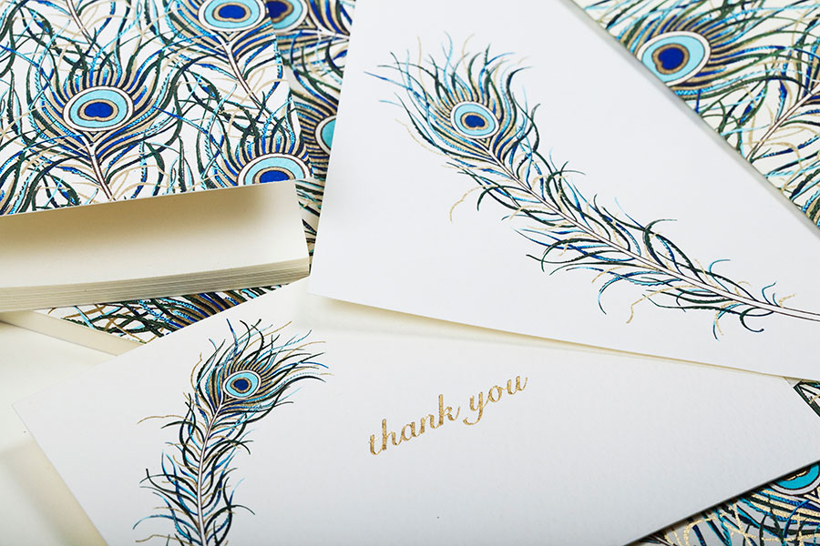 Thank You Cards Rossi1931 Stationery Feathers