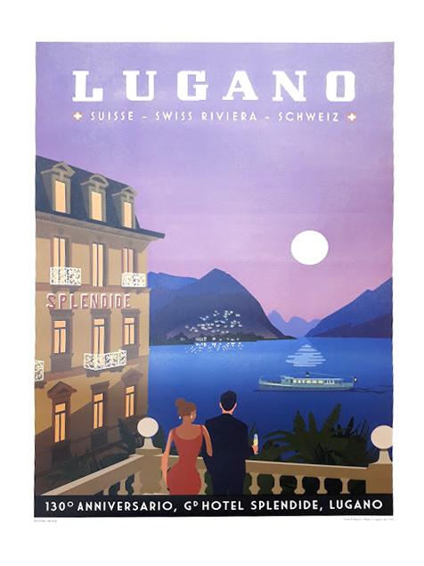 Rossi 1931 for Hotel Splendid Royal, Lugano – Memorial poster for the 130th anniversary, limited and numbered edition