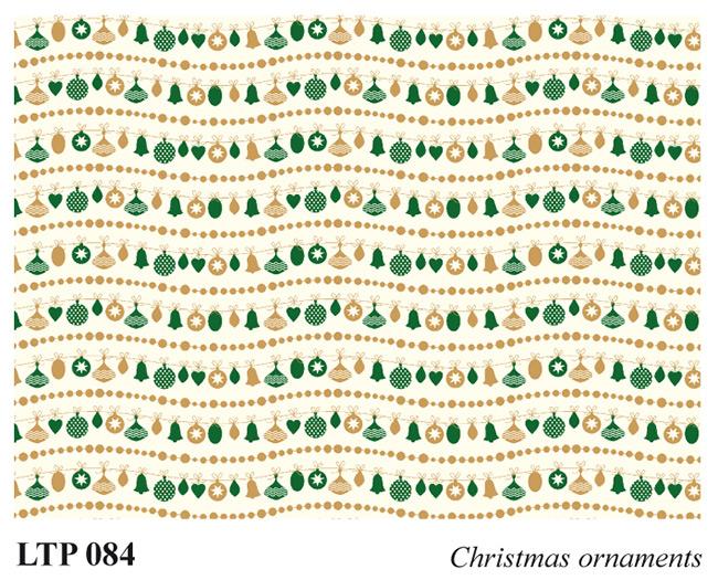 Christmas letterpress decorative papers LTP 084 Christmas ornaments