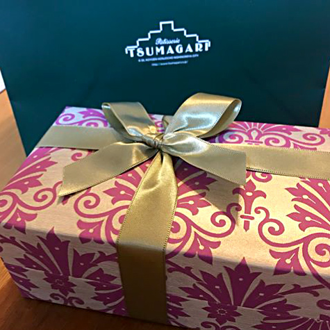 Tsumagari Patisserie Wrapping with Rossi1931 Gold Decorative Papers